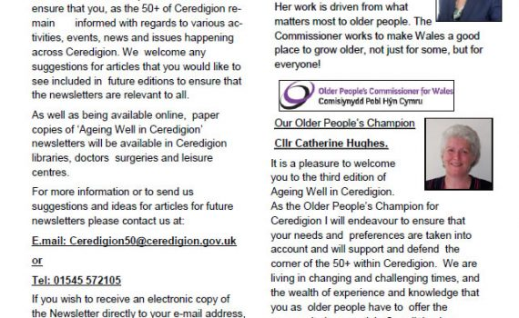 Ageing Well in Ceredigion! - Issue 3